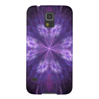 Purpurfärgad blom- Fractal Galaxy S5 Fodral