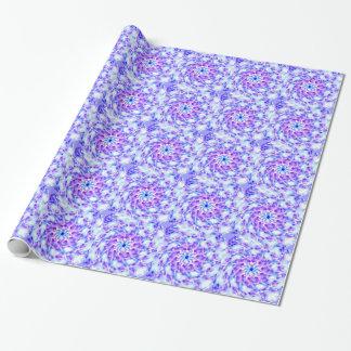 Purpurfärgad blom- Mandala Presentpapper