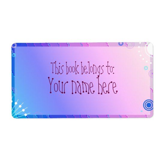 purpurfärgad bokägarmärke fraktsedel