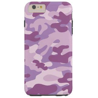Purpurfärgad Camo design Tough iPhone 6 Plus Skal