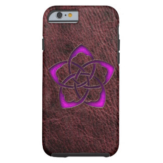 Purpurfärgad celtic blomma för Mystic glöd på Tough iPhone 6 Case