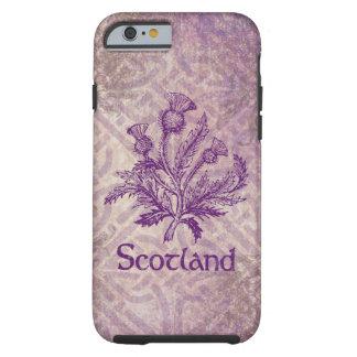 Purpurfärgad Celtic fnurra för skotsk Thistle Tough iPhone 6 Skal