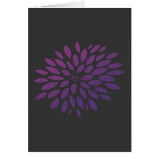 Purpurfärgad Chrysanthemum OBS Kort