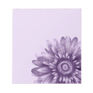 Purpurfärgad daisyvintage anteckningsblock