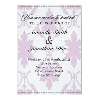 Purpurfärgad damastast bröllopinbjudan 12,7 x 17,8 cm inbjudningskort