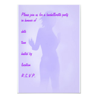 purpurfärgad dansare 12,7 x 17,8 cm inbjudningskort