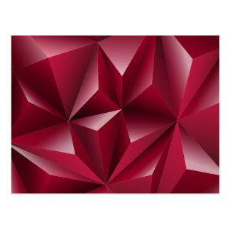 Purpurfärgad design för triangel 3d vykort