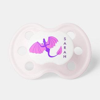 Purpurfärgad drakenappar napp