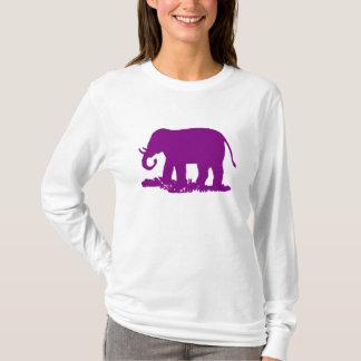 Purpurfärgad elefant tee