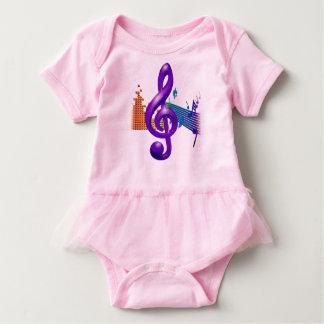 Purpurfärgad elegant design för Trebleklav T Shirts
