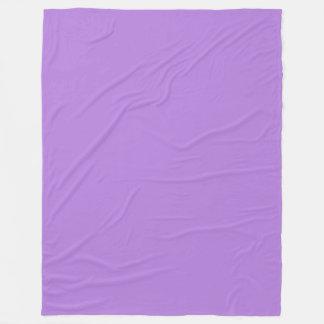 Purpurfärgad fast färg för lavendel fleecefilt