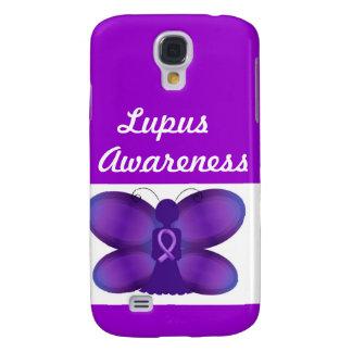 Purpurfärgad felik fjäril för Lupusmedvetenhet Galaxy S4 Fodral