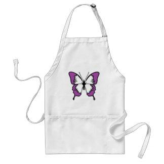 Purpurfärgad fjäril förkläde
