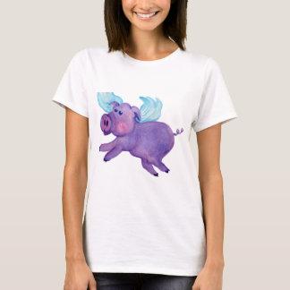 Purpurfärgad flyggris t shirts