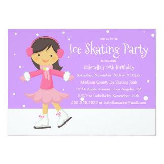 Purpurfärgad födelsedagsfestinbjudan för 12,7 x 17,8 cm inbjudningskort