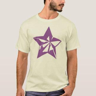 Purpurfärgad för snitt stjärna ut tröja