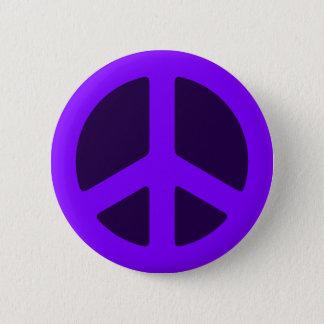 Purpurfärgad fredstecken standard knapp rund 5.7 cm
