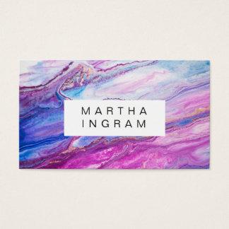 Purpurfärgad galaxabstrakt för modern idérik visitkort