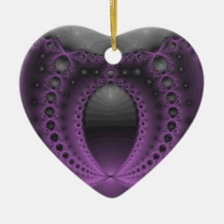Purpurfärgad Geek Julgransprydnad Keramik
