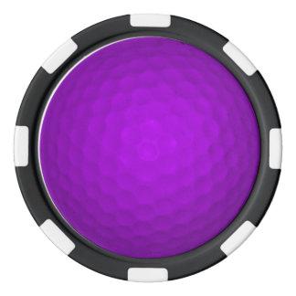 Purpurfärgad golfboll poker marker