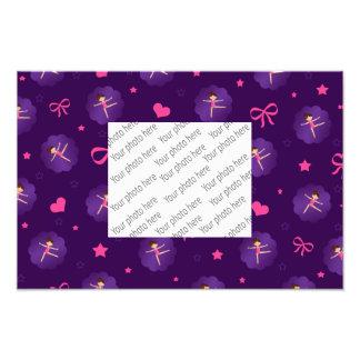 Purpurfärgad gymnast för kammussla för lilor för fototryck