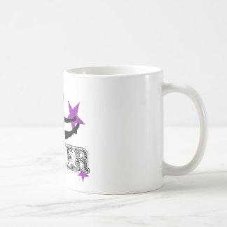 Purpurfärgad hejaklacksledare kaffemugg