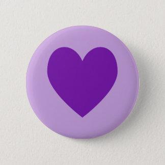 Purpurfärgad hjärta knäppas standard knapp rund 5.7 cm