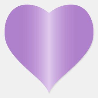 Purpurfärgad hjärtformade satänglutning för hjärtformat klistermärke