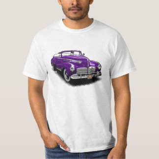 Purpurfärgad Hudson cabriolet på vitT-tröja Tröjor