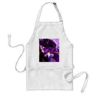 Purpurfärgad Iris Förkläde