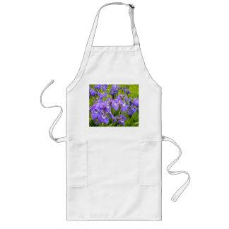 Purpurfärgad Iris Långt Förkläde