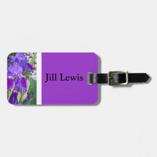 Purpurfärgad Irisbagagemärkre Bag Tag För Väskor