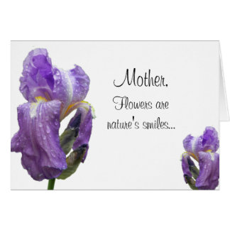 Purpurfärgad Irismors dagpersonlig Hälsningskort