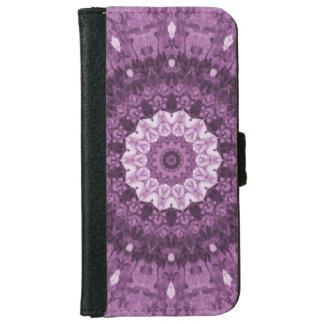 Purpurfärgad Kaleidoscope för Boho person som iPhone 6/6s Plånboksfodral