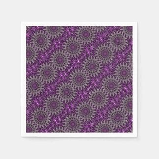 Purpurfärgad Kaleidoscope Pappersservett