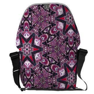 Purpurfärgad Kaleidoscopemessenger bag för röda Messenger Bag