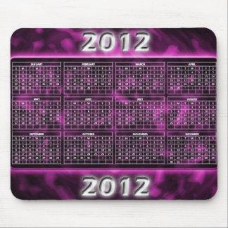 Purpurfärgad kalender Mousepad Musmatta