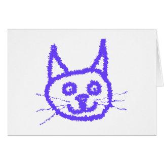 Purpurfärgad katt hälsningskort