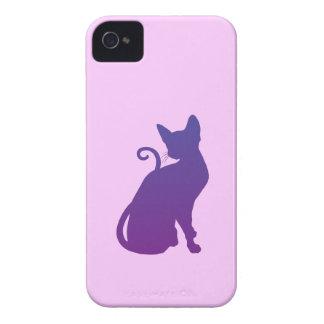 Purpurfärgad katt iPhone 4 cases
