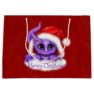Purpurfärgad kattungeMeowy jul på rött