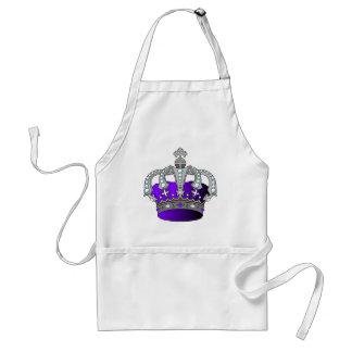 Purpurfärgad kunglig krona förkläde