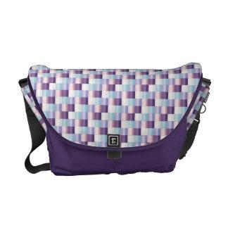 Purpurfärgad lavendelstruktur för abstrakt mosaisk kurir väska