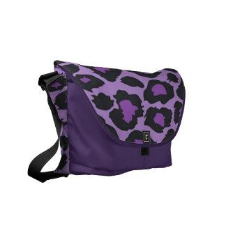 Purpurfärgad LeopardRickshawmessenger bag Kurir Väska