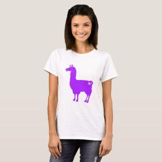 Purpurfärgad LlamadamT-tröja T Shirt