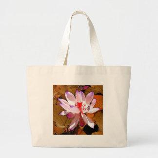 Purpurfärgad lotusblomma jumbo tygkasse