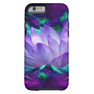 Purpurfärgad lotusblommablomma och dess menande tough iPhone 6 skal