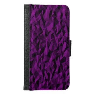 Purpurfärgad modern struktur plånboksfodral för samsung galaxy s6