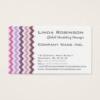 Purpurfärgad Monogram för plommonsparresicksack Visitkort