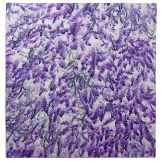 Purpurfärgad mosstryckservett tygservett