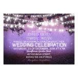 purpurfärgad natt & lantligt bröllop för trädgårdl personliga tillkännagivanden